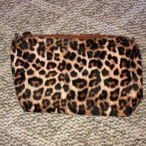 leopard shoulder purse